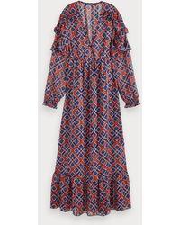 Scotch & Soda Maxi-jurk Met Print - Meerkleurig