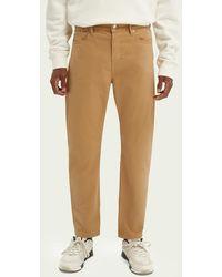 Scotch & Soda Dean Tapered Fit Jeans – Summer Garment Dye - Naturel