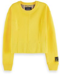 Scotch & Soda Cotton-blend Long Sleeve Darted Sweatshirt - Yellow
