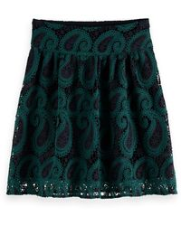 Scotch & Soda High Waist Lace Mini Skirt - Blue