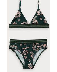 Scotch & Soda Bikini mit floralem Hawaii-Print - Grün