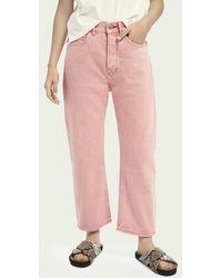 Scotch & Soda Extra Boyfriend Jeans – Magic Pink - Roze