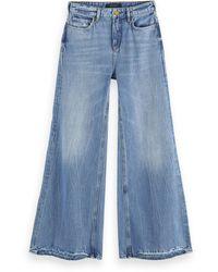 Scotch & Soda High-rise Extra Wide-leg Jeans - Blue Butter