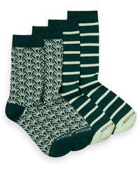 Scotch & Soda 2-pack Printed Cotton-blend Socks - Green