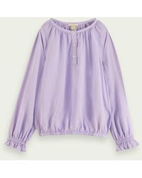 Scotch & Soda Langärmliges T-Shirt im Wide Fit – Lavender - Lila