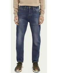 Scotch & Soda Dean Loose Tapered Fit Jeans Van Biologisch Katoen – Washout - Blauw