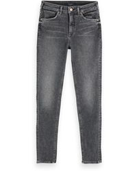 Scotch & Soda Haut - Touch Of Dust Stretch High-rise Skinny Fit Jeans - Grey