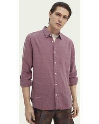 Scotch & Soda Garment-dyed Overhemd - Roze