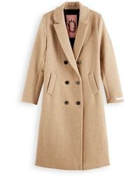 Scotch & Soda Tailored Wool-blend Double Breasted Coat - Natural