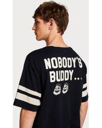 Scotch & Soda - Striped Artwork T-shirt Brutus - Lyst