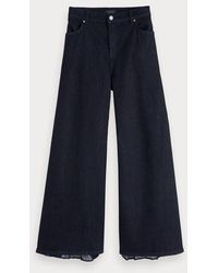 Scotch & Soda High-rise Jeans Met Wijde Pijpen - Mix Match - Blauw