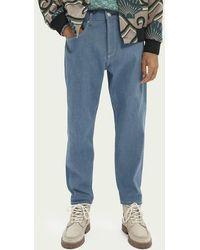 Scotch & Soda Dean Tapered Fit Jeans — Aquamarine Japanese Selvedge - Blauw