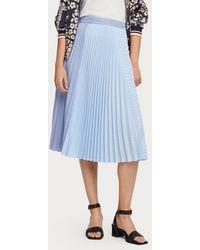 Scotch & Soda Mixed Stripe Pleated Skirt - Blue