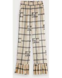 Scotch & Soda High-rise Printed Pajama Style Pants - Multicolor