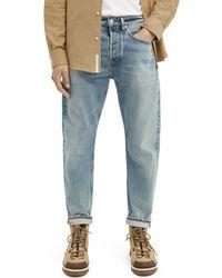 Scotch & Soda Dean Loose Tapered Jeans — Break The Record - Blue