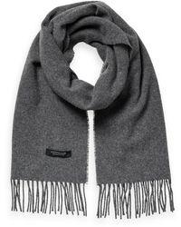 Scotch & Soda Unisex Wool-blend Fringe Scarf - Grey
