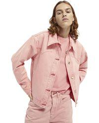 Scotch & Soda Western Denim Jacket - Pink