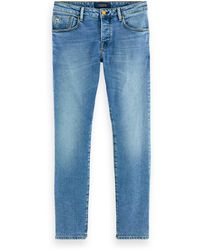 Scotch & Soda Ralston - Midday Blauw Regular Slim Fit Jeans - Blue