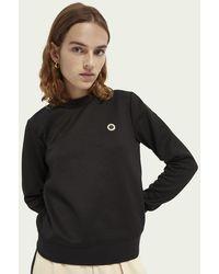 Scotch & Soda Logosweater Met Ronde Hals - Zwart