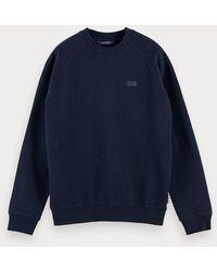Scotch & Soda Basic Sweater Met Ronde Hals - Blauw