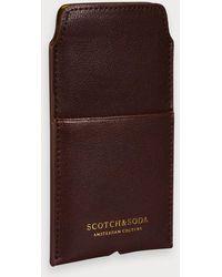 Scotch & Soda Leren Iphone-hoesje - Bruin
