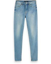 Scotch & Soda Haut - Clear Sky High-rise Skinny Fit Jeans - Blue
