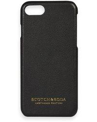 Scotch & Soda Leather-coated Iphone Case - Black