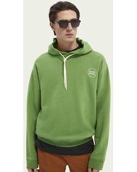 Scotch & Soda Sweat-shirt à capuche relaxed fit - Vert