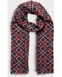 Scotch & Soda Lichtgewicht Sjaal Met Print - Blauw