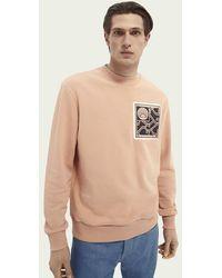 Scotch & Soda Grafische Sweater - Roze