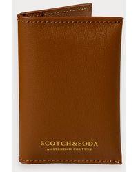 Scotch & Soda Klassieke Leren Pasjeshouder - Bruin