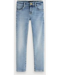 Scotch & Soda Extra Super Skinny Fit Jeans - Denim Canvas - Blauw