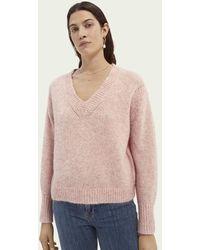 Scotch & Soda Sweater Met V-hals - Roze