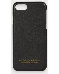 Scotch & Soda IPhone-Hülle mit Lederbezug - Schwarz