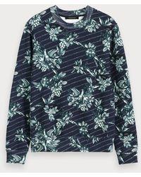 Scotch & Soda Sweat-shirt toile de Jouy - Bleu