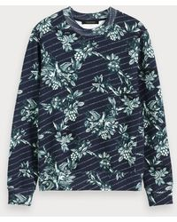 Scotch & Soda - Sweater Met Toile De Jouy - Lyst