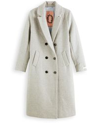 Scotch & Soda Tailored Wool-blend Double Breasted Coat - Grey
