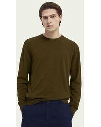 Scotch & Soda Sweater Met Ronde Hals - Bruin