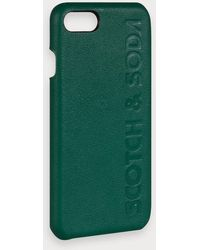 Scotch & Soda Iphone 8-hoesje Met Embossed Logo - Groen