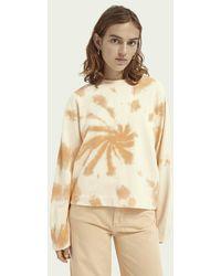 Scotch & Soda Tie-dye Sweater Van Biologisch Katoen - Oranje
