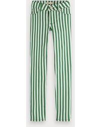 Scotch & Soda Gestreepte Skinny Jeans - Groen