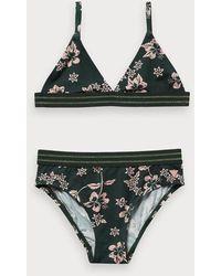 Scotch & Soda Bikini avec imprimé floral hawaïen - Vert
