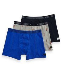 Scotch & Soda - 3-pack Printed Boxer Short - Lyst