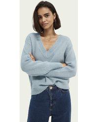 Scotch & Soda Sweater Met V-hals - Blauw