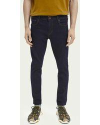 Scotch & Soda Skim Plus Cropped Super Slim Fit Jeans – Stay Dark - Zwart