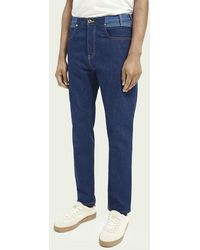Scotch & Soda The Norm Plus Straight Fit High-rise Jeans – Dress For Adventure - Blauw