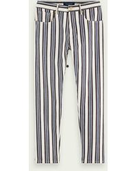 Scotch & Soda The Norm - Stripe Out - Blauw