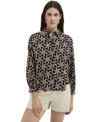 Scotch & Soda Printed Organic Cotton-blend Shirt - Multicolour