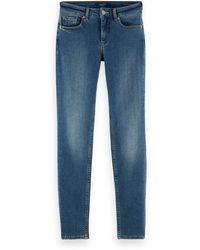 Scotch & Soda La Bohemienne Mid-rise Skinny Jeans - Remember Remember - Blue