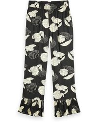 Scotch & Soda Longer Length High Rise Pyjama Trousers - Black